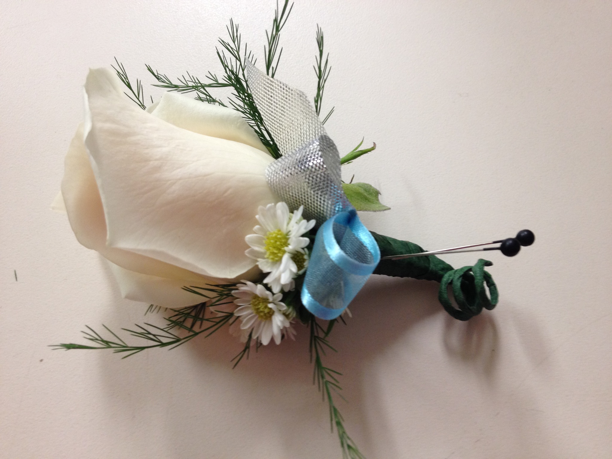 Boutonniere - White Rose