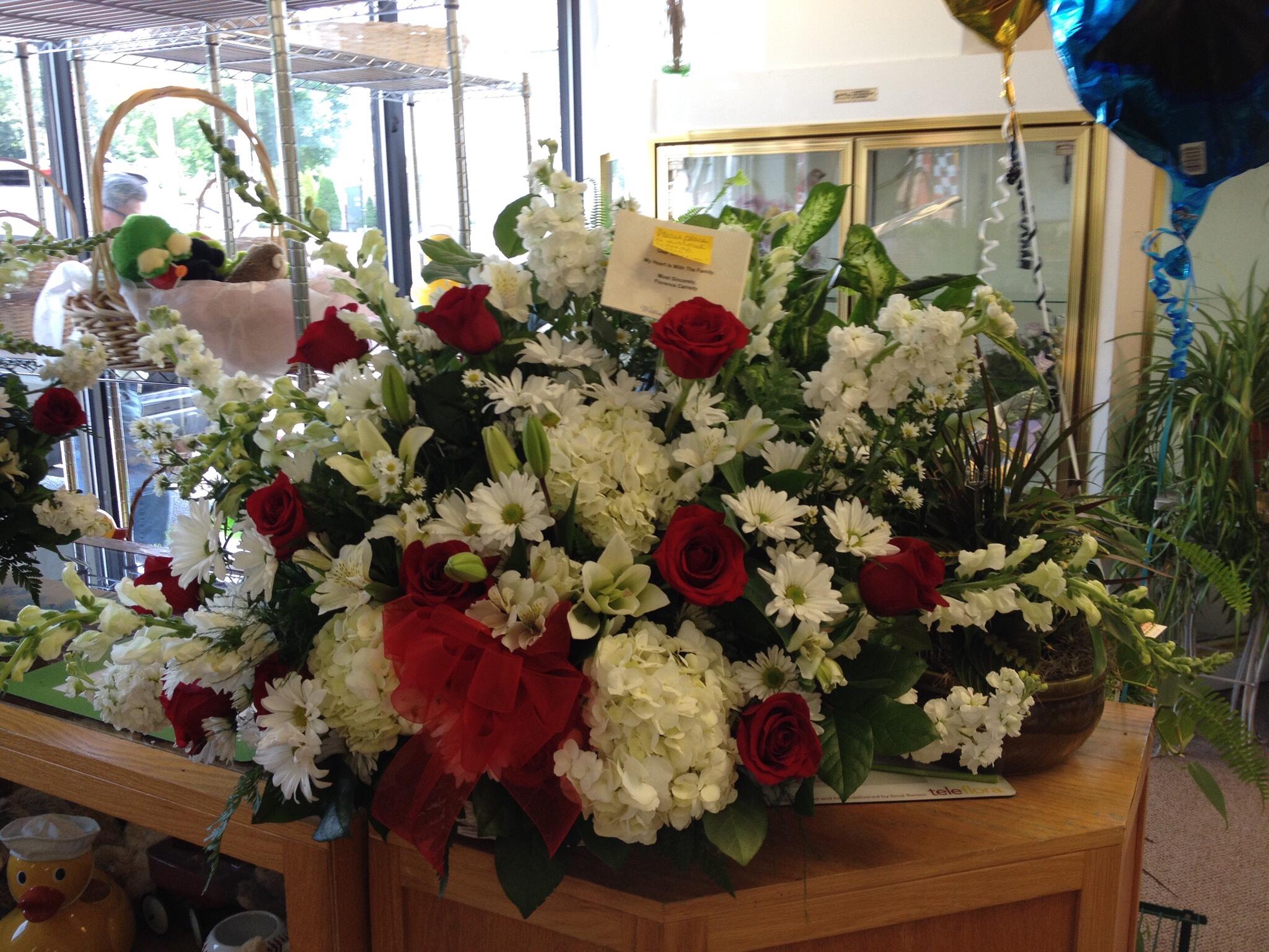 Floor Arrangement - Roses, Hydrangea, Lilies, Snapdragon