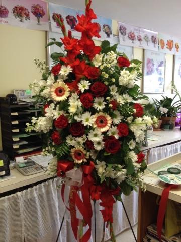 Traditional Spray - Roses, Gerbera Daisy, Gladiolas