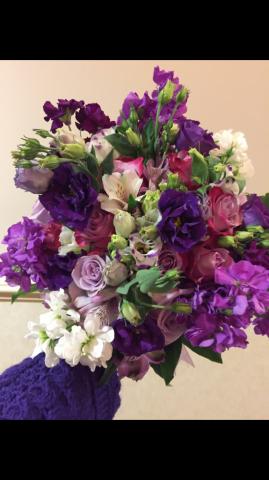 All lavender bridal bouquet