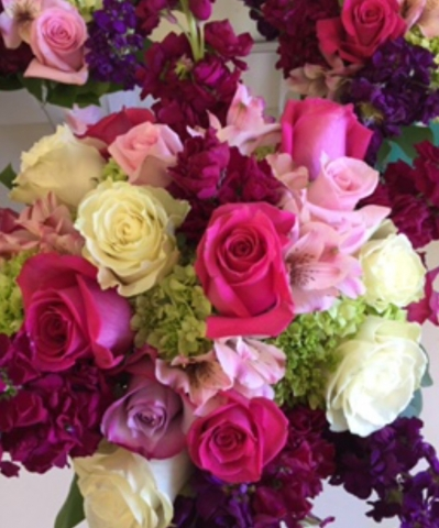 Pink and lavender bridal bouquets