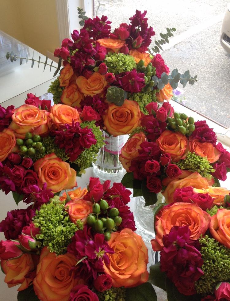 Colorful bridal bouquets