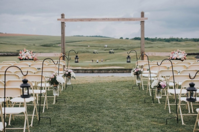 outdoor ceremony, wedding lanterns