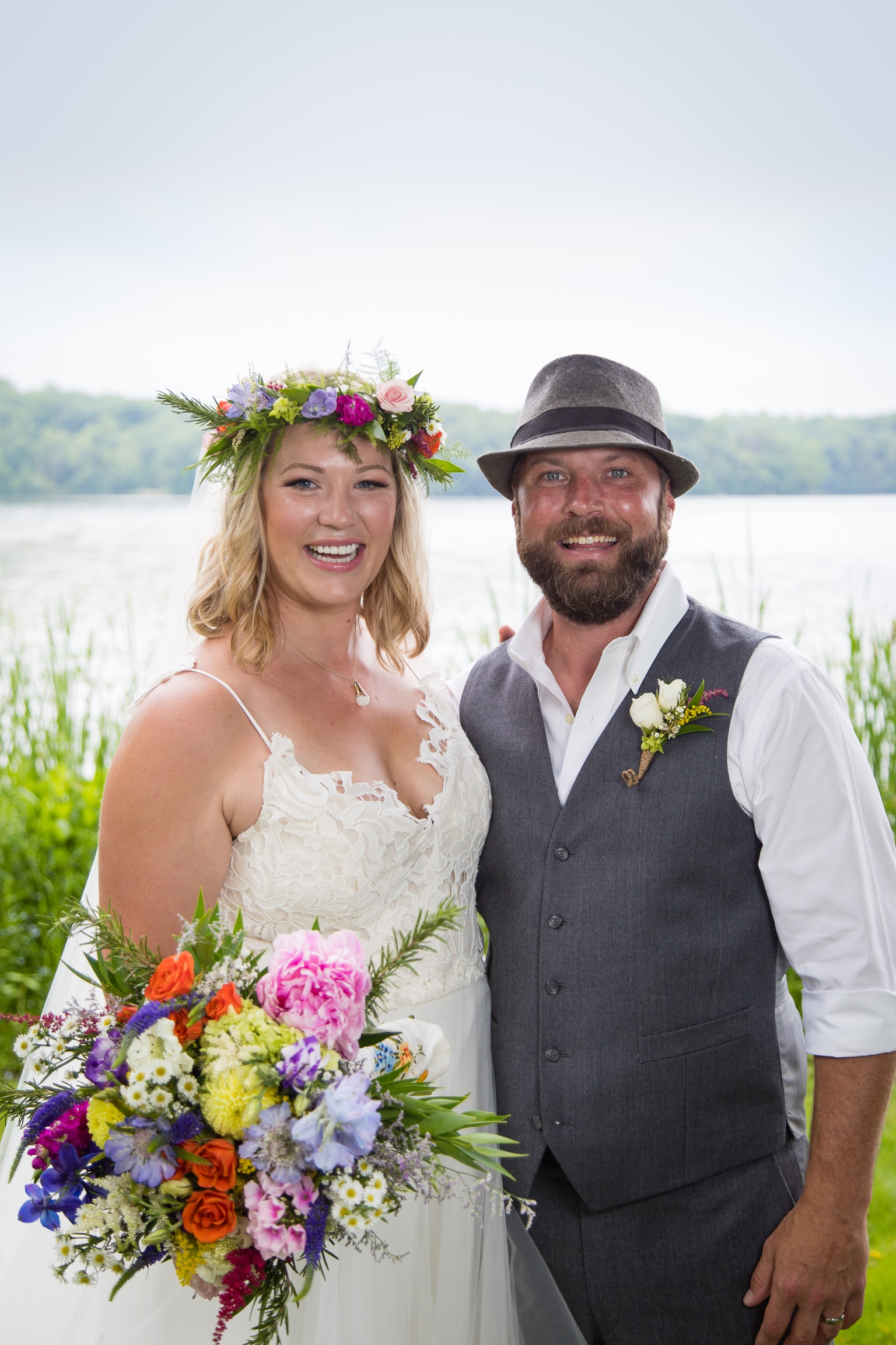 Flower Child Wedding, flower crown, wildflower wedding