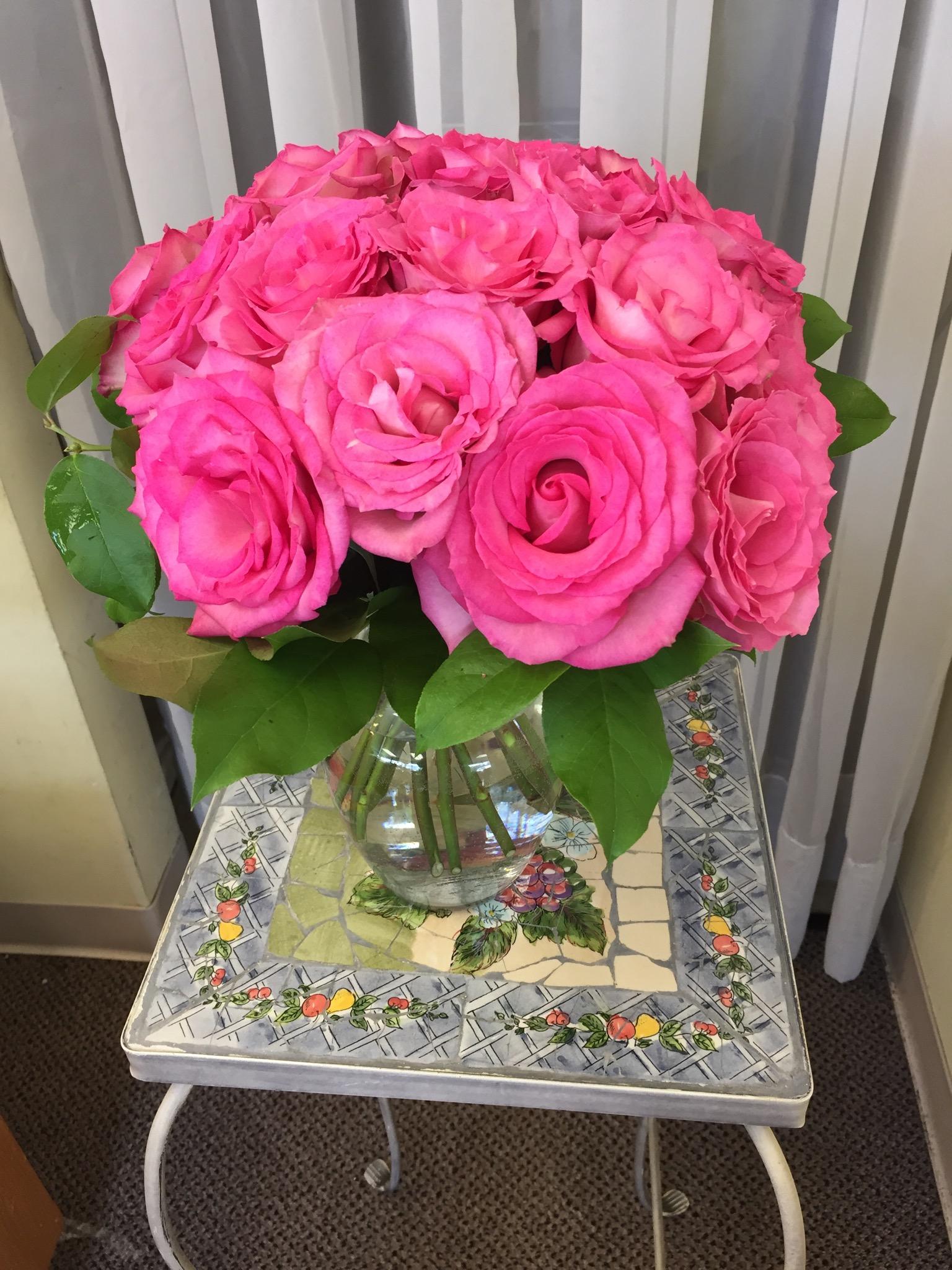 Dozen Roses - Vase Arrangement