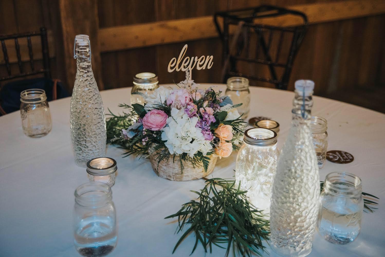 tablescape, wedding, mason jar