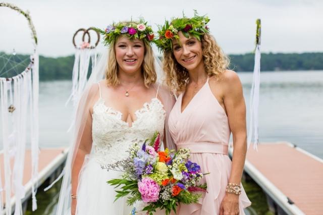 flower crown, hippie wedding