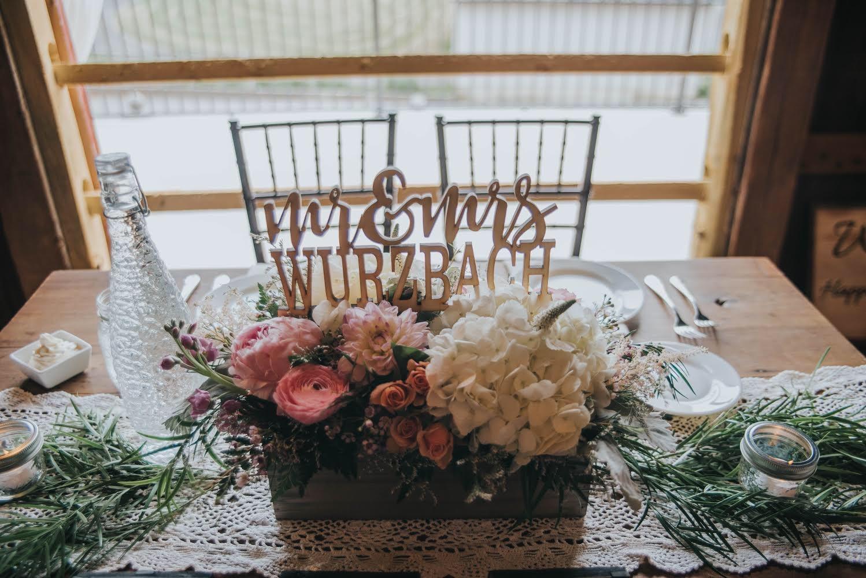 sweetheart table, eucalyptus, mason jar, candles