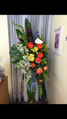 Tropical Style Spray - Roses, Lilies