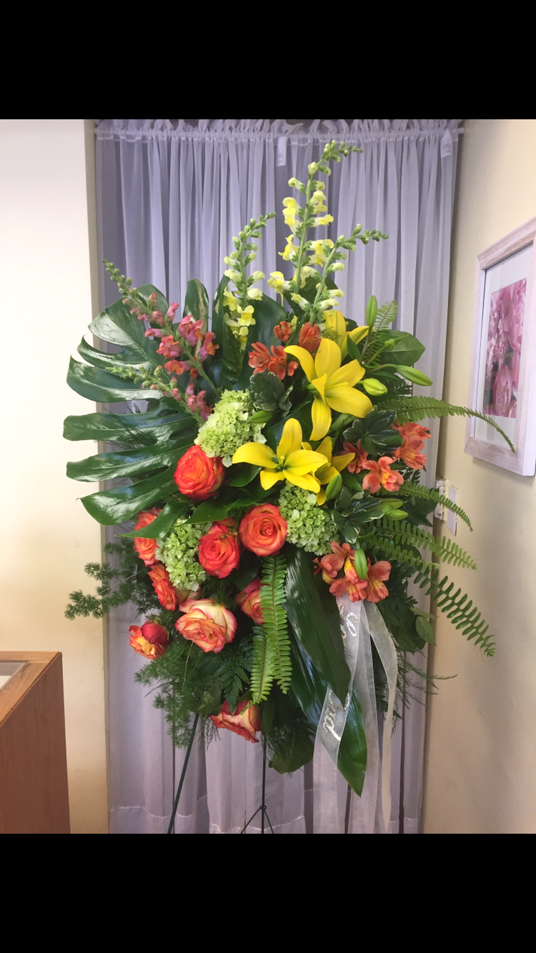 Tropical Style Funeral Spray