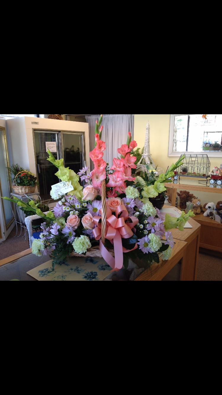 Fireside Basket - Roses, Gladiola, Carnation